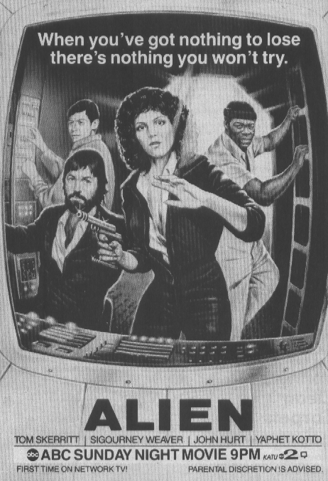1980's Ad in TV Guide for Alien (1979)