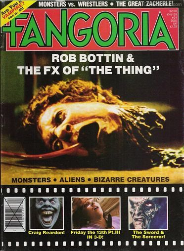 The Thing on the front cover of Fangoria Magazine