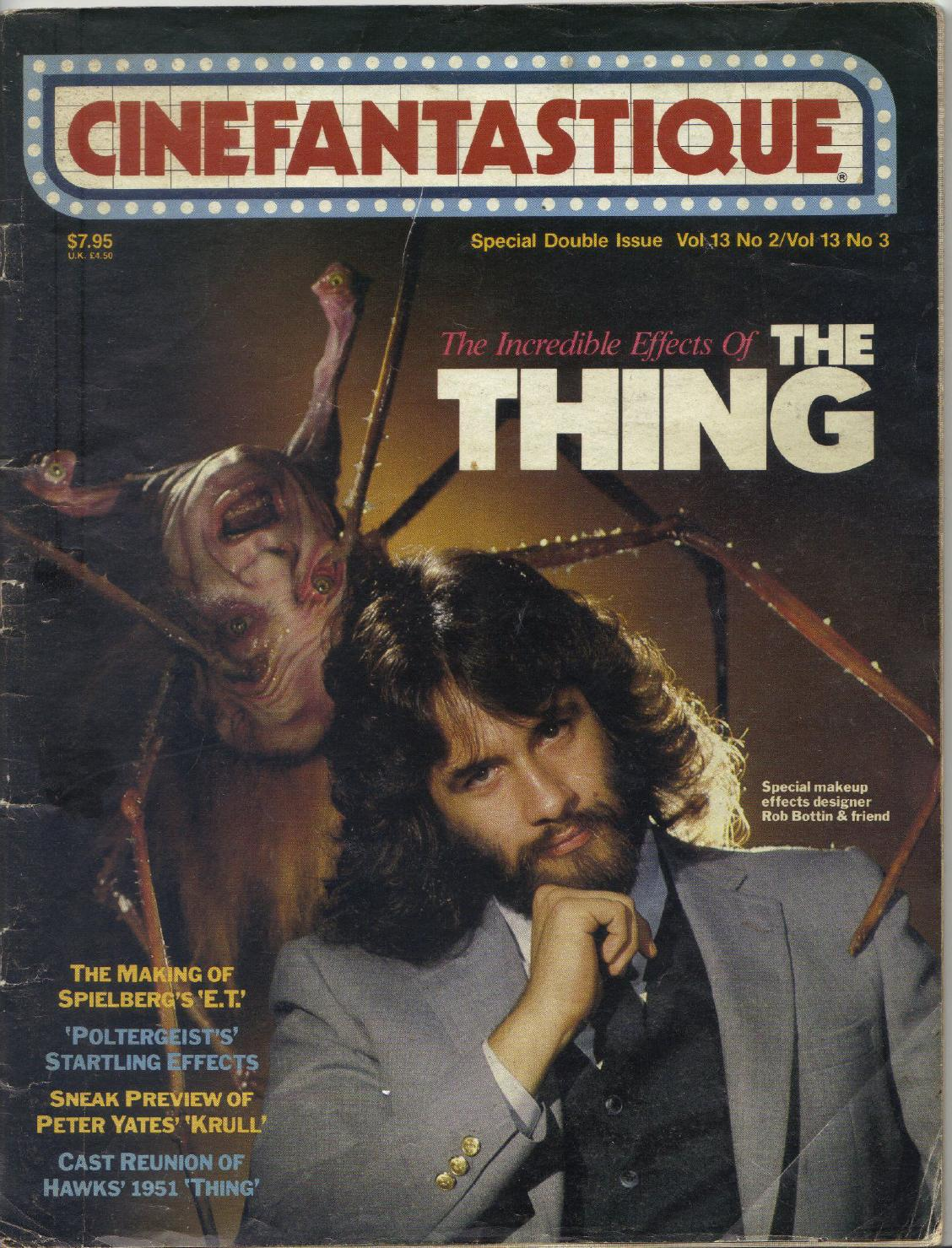 Rob Bottin on the cover of Cinefantastique magazine