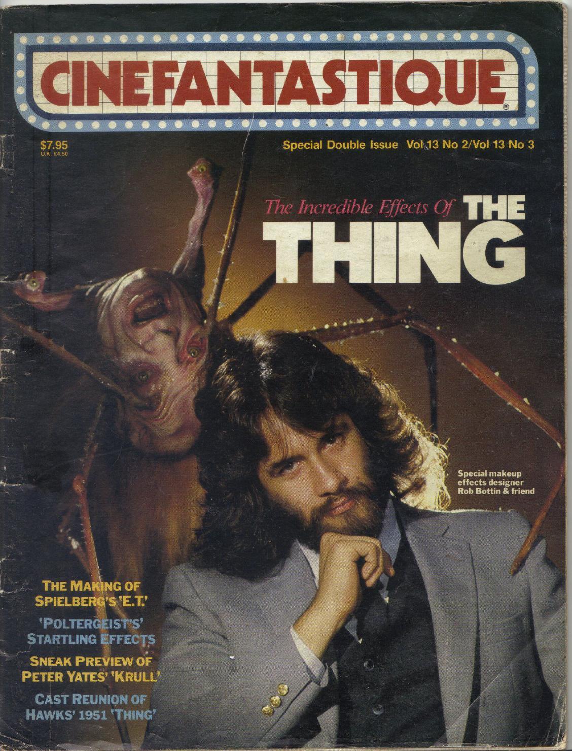 Rob Bottin on the cover of Cinefantastique magazine