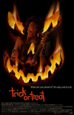 Trick or Treat 1986 movie poster